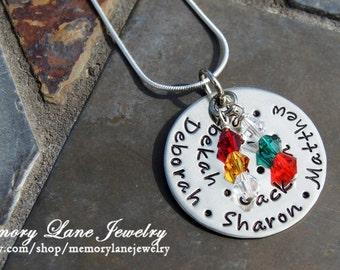 """1"""" Birthstone Swirl Necklace"""