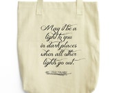 The Hobbit Lord of the Rings Tote - Book Bag - Lord of the Rings Quote - Literary Quote Tote Bag - Word Art Shopping Bag - Cotton Canvas Bag