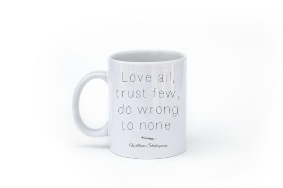 Shakespeare Mug - Quote Mug - Literary Gift - Literary Mug - Book Quotes - Inspirational Quote Mug - Geekery - Book Worm Gift - Under 20