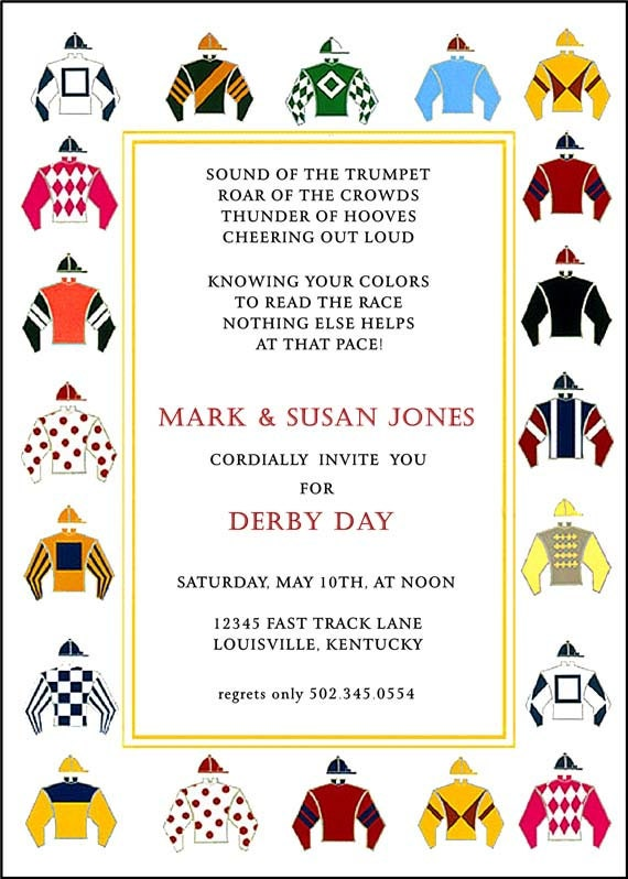 jockey silks template - kentucky derby party invitation horse by adorableinvitations