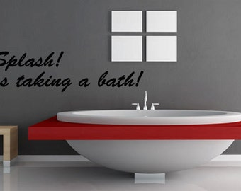 popular items for bath wall art on etsy. Black Bedroom Furniture Sets. Home Design Ideas