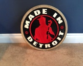 Made in Detroit Wall Hanging Free Shipping