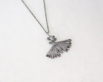 Unidentified Moth necklace- Sterling Silver