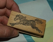 FarmDotters Rubberstamp Jumping Horse