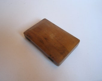 antique wooden hand made cigarette case