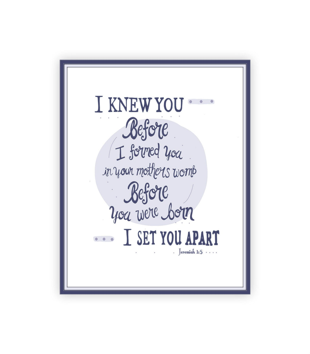 Spiritual Baby Shower Quotes: Jeremiah 1:5 8x10 Baby Bible Verse Boys Nursery Decor