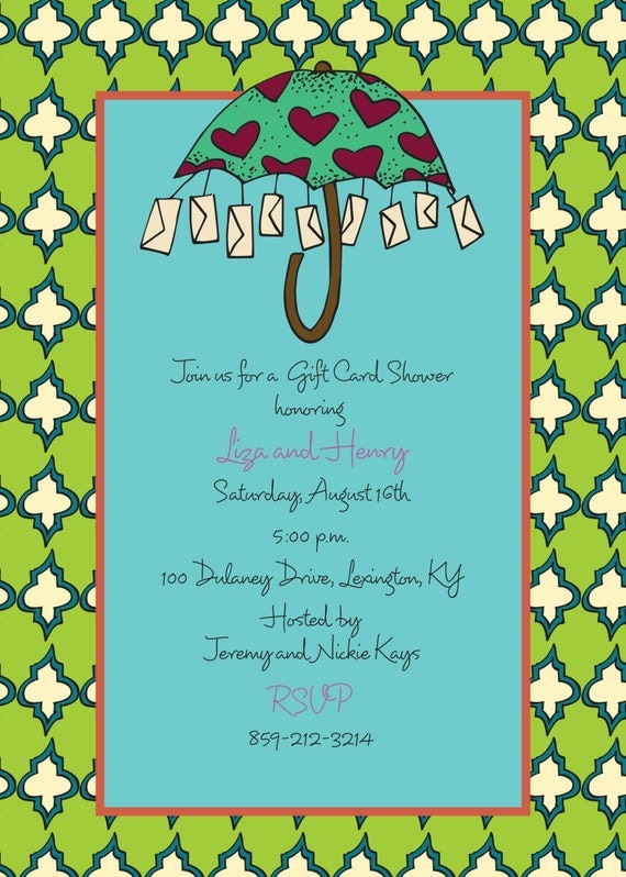 Items similar to Gift Card Shower Invitation on Etsy