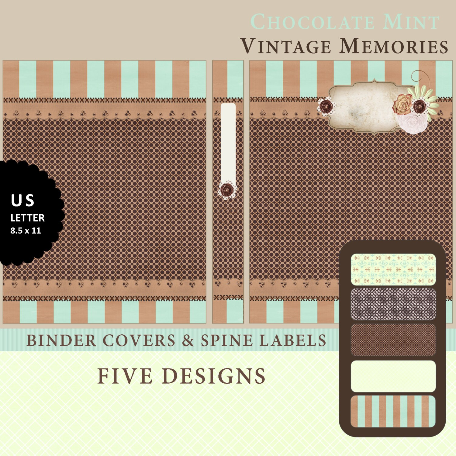 Printable Binder Covers & Spine Label Inserts By