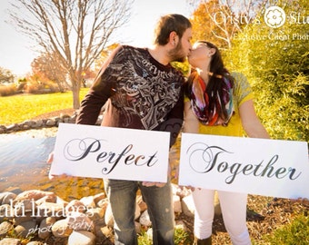 Two (2) Engagement Photos Signs