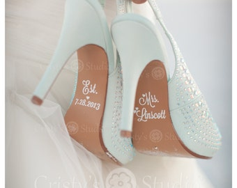 Wedding Shoe Decals -