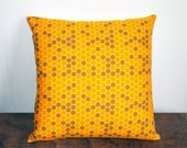 """Gold and Brown Honeycomb Geometric Accent Throw Pillow Cover 16""""x16"""" - Apartment Therapy Trend Pick"""