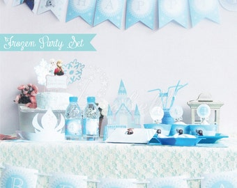 Frozen Party Kit Printables. Complete Set Party Printables. DIY Frozen birthday. Olaf's Frozen Adventure. Olaf Birthday. Olaf Party. DIGITAL