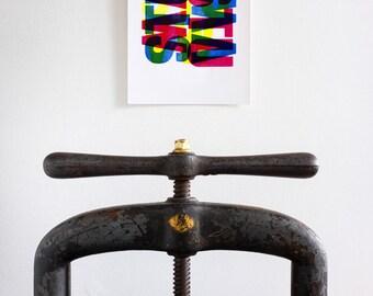 Letterpress - STUVW A4 Print