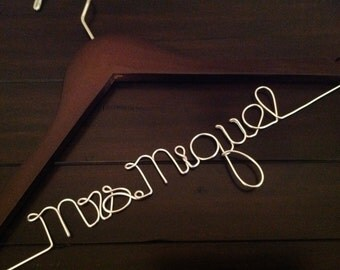 SUPER SALE Wedding Hanger/Personalized Wedding Hanger/Bride Hanger/Hanger/Bride/Name Hanger/Wedding Hanger/Custom Hanger.