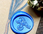 1pcs Custom Initial Gold Plated Wax Seal Stamp with Vintage Handle (WS178)