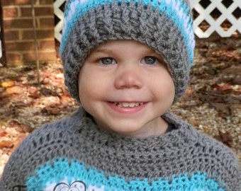 Instant Download- Crochet Pattern- Isaac Beanie