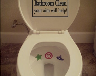 Boys Aim Sign and Tinkle Targets Combo