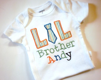 Sibling Shirt - Big Brother Shirt - Little Brother Shirt - Middle Brother Shirt -Embroidered shirt EmPersonalized Big/Mid/Lil Brother Design