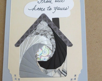 handmade birthday card using iris folding