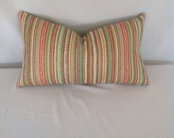 Multicolored Stripe Lumbar Pillow Cover