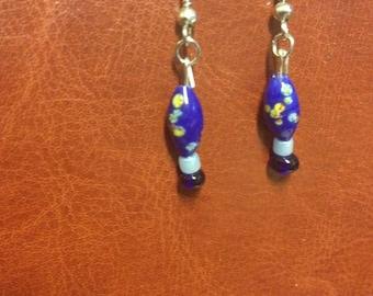 Simple Flower Beaded Earrings