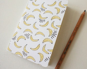 Mini journal covered with Bananas paper