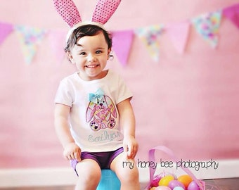Baby Girl Easter Shirt - Easter Bunny Outfit - Girl Easter Shirt - Easter Bunny Shirt