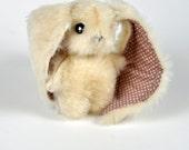 "stuffed toys, white rabbit, OOAK bunny, miniature hare 4,3"", stuffed animal, child friendly"