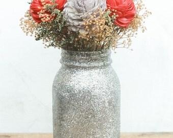 Country Wedding Centerpieces Mason Jars