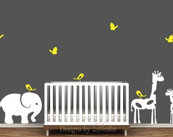 Nursery Decal with Jungle Animals