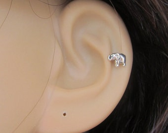 Sterling silver celtic cartilage earring knot by for Helix piercing jewelry canada
