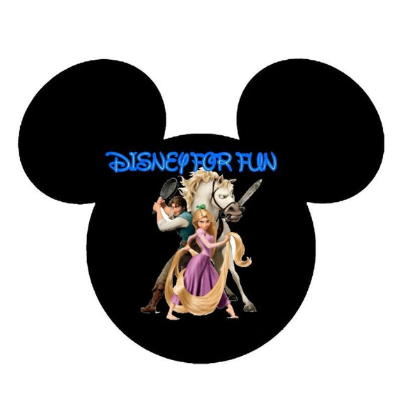 Disney Mickey Mouse Head Tangled File to make magnets and such