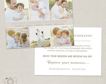 Promo Card - Photography Marketing Template Flyer Postcard Template Board 003 - C188, INSTANT DOWNLOAD