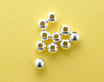 sterling silver spacer bead 6mm - 10pcs - sterling silver round ball spacer - silver spacer bead - sterling spacer bead - 925 ball spacer
