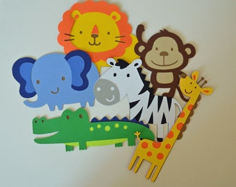 SALE - Safari Animals Party Decor