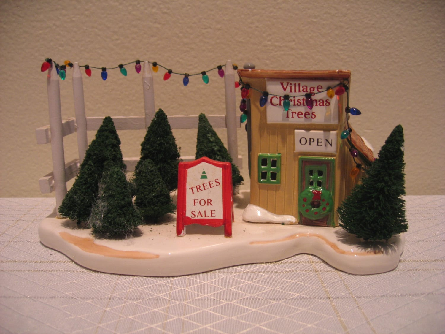 Original snow village by dept 56 tree lot for Decoration 56