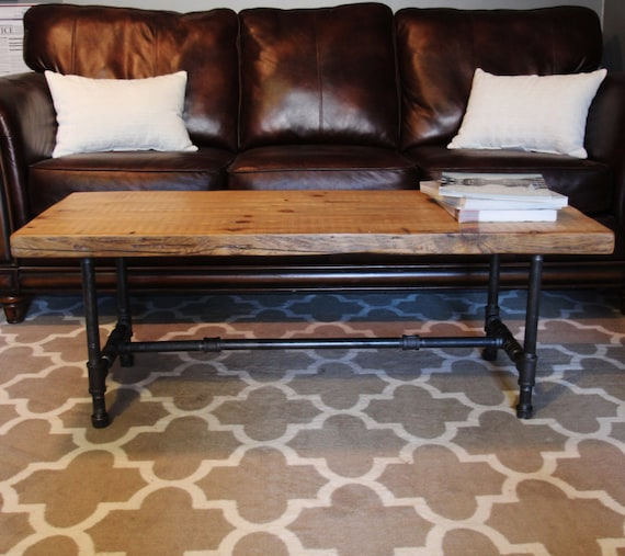 Bithlo Reclaimed Wood Top Round Industrial Coffee Table: Industrial Urban Wood Reclaimed Coffee Table Or Media By
