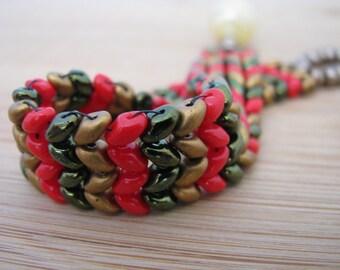 Tis The Season Herringbone Bracelet (SuperDuo)