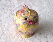 Royal Winton Grimwades Chintz Rosebud Jam Jar - Welbeck - Made in England
