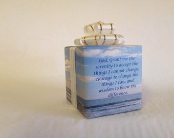 Serenity Prayer Music box wrapped as a gift