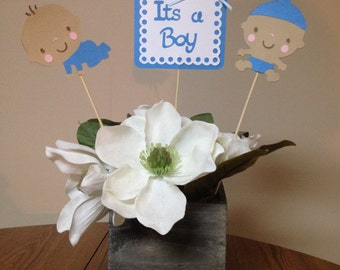 Baby Boy Shower Centerpieces