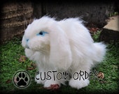 CUSTOM poseable BUNNY RABBIT art doll ooak.