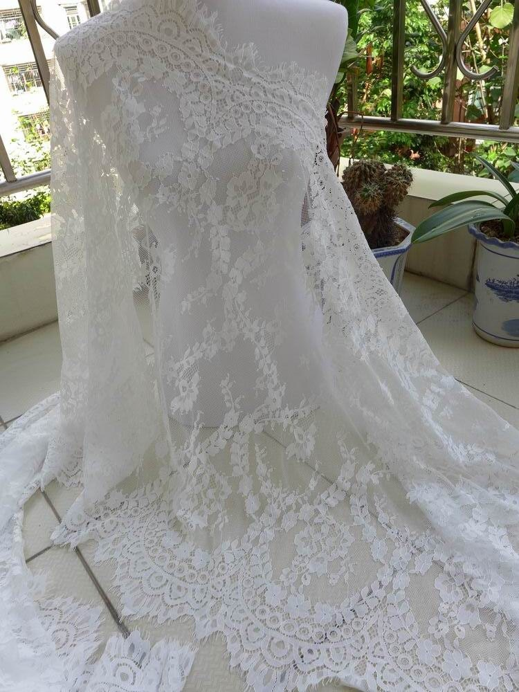 Off white bridal lace fabric gorgeous evening gown fabric for White lace fabric for wedding dresses