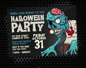 Zombie Halloween Party_ DIY Printable Halloween Invitation