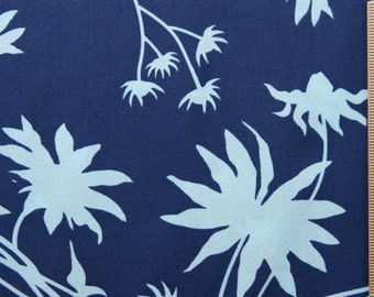 Joel Dewberry fabric Black Eyed Susan JD07 Deepwater blue 100% Cotton Fabric by the yard free spirit fabric