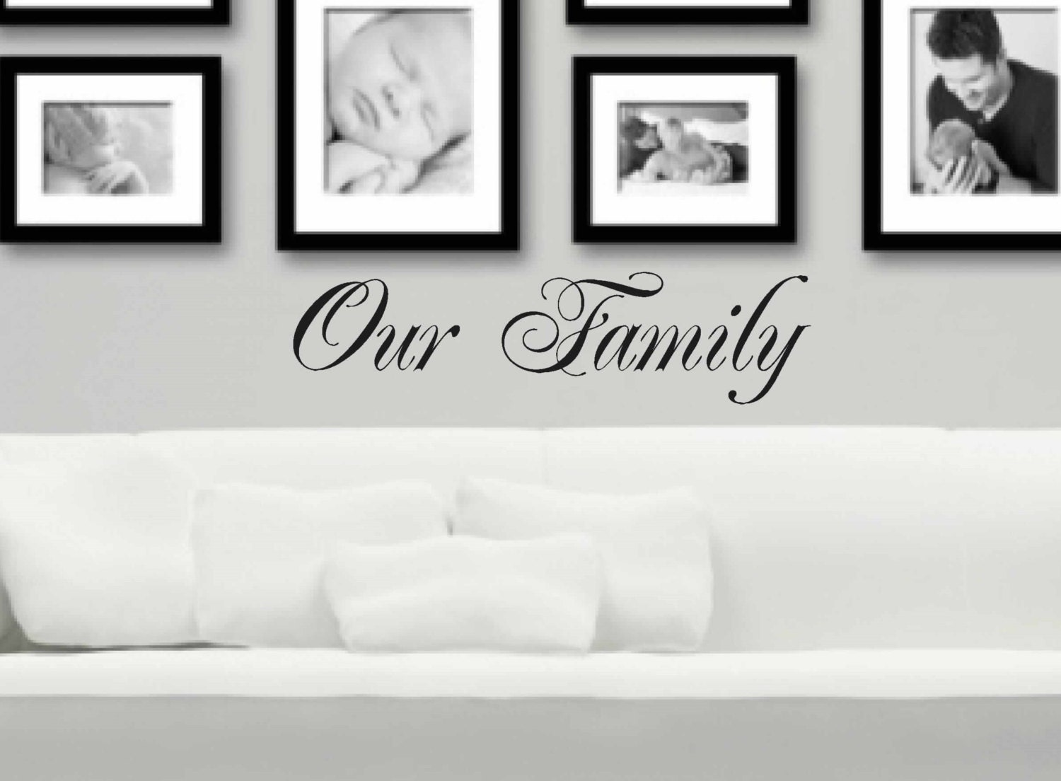Our family wall decal vinyl wall decor entryway decal zoom amipublicfo Image collections