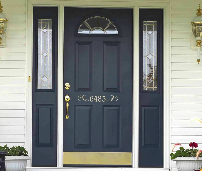 House Numbers Decal Front Door Decal Front Door Welcome