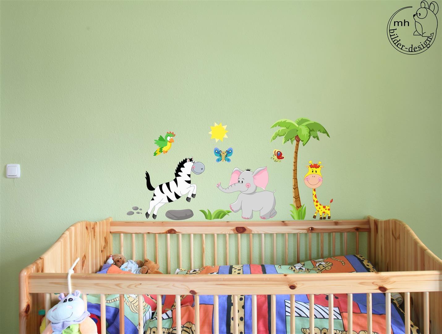 wandtattoo afrika set elefant giraffe zebra kinderzimmer. Black Bedroom Furniture Sets. Home Design Ideas