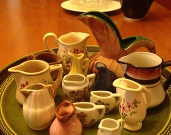 Pretty Collection of Miniature Pitchers