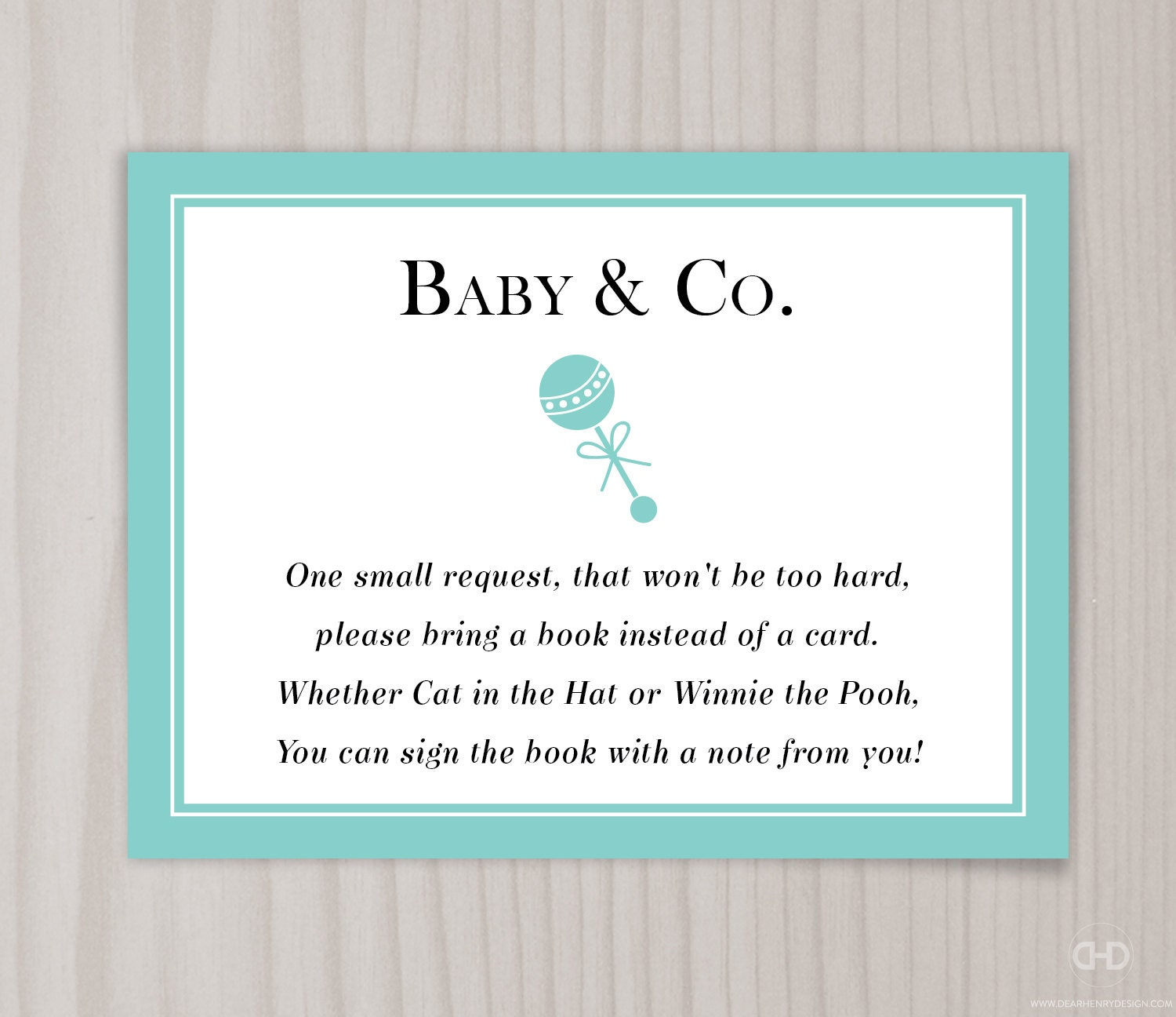 baby co book request card baby shower bring a book
